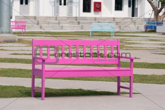 pink street chair
