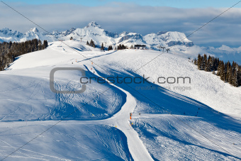 Skiing and Snowboarding in French Alps
