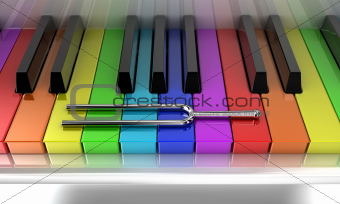 multicoloured piano