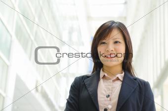 Beautiful Asian officer