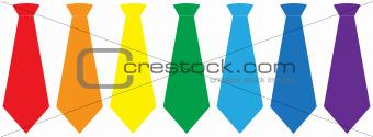 Tie set, vector illustration