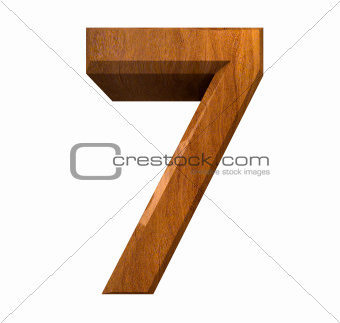 3d number 7 in wood
