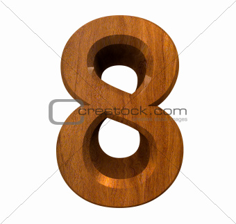 3d number 8 in wood