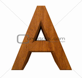 3d letter A in wood