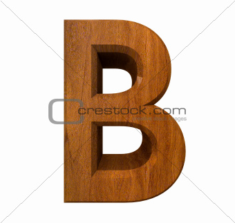 3d letter B in wood