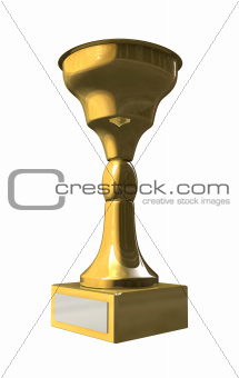 Golden trophy cup