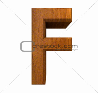 3d letter F in wood