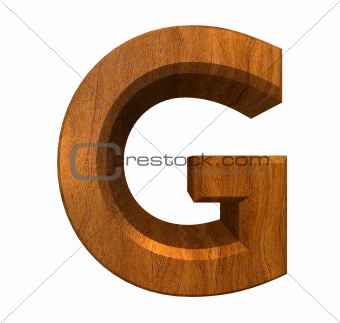 3d letter G in wood