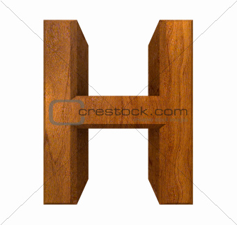 3d letter H in wood