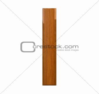 3d letter I in wood