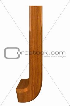 3d letter J in wood