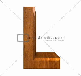 3d letter L in wood