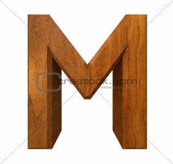 3d letter M in wood