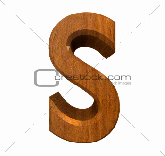 3d letter s in wood