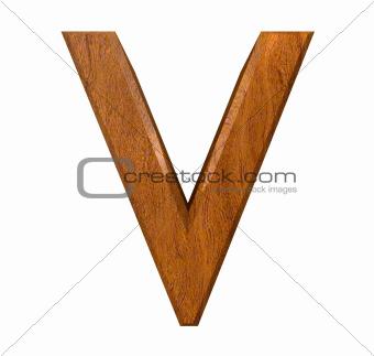 3d letter V in wood