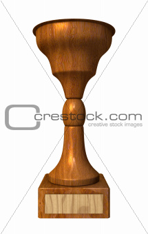 3d trophy cup in wood