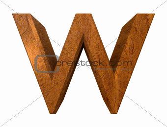 3d letter w in wood