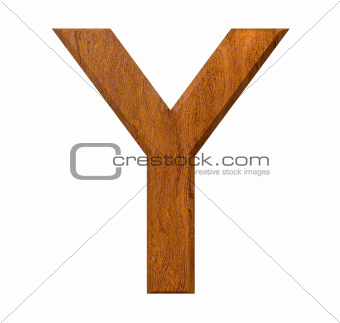3d letter Y in wood