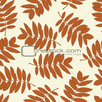 Ash leaves seamless background