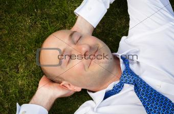 Businessman resting