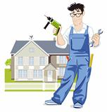handyman with house