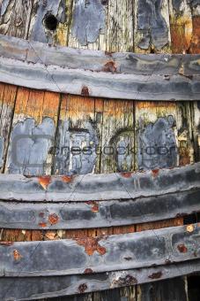 old wooden barrel background