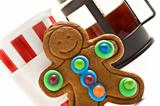 Gingerbread man and coffee