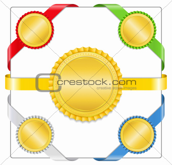 Ribbons with medals