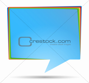 Abstract Speech Bubble Banner