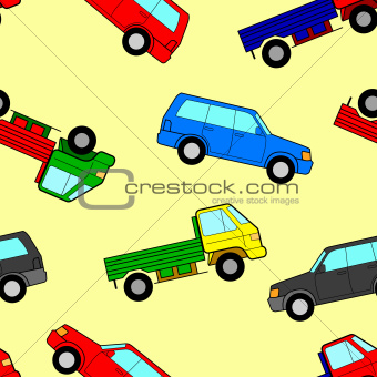 Car seamless wallpaper, vector illustration