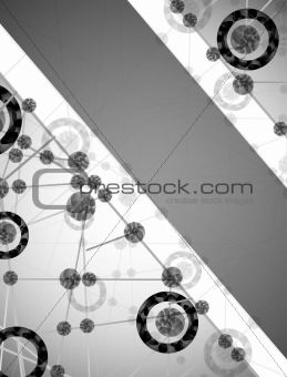 molecular structure, abstract background