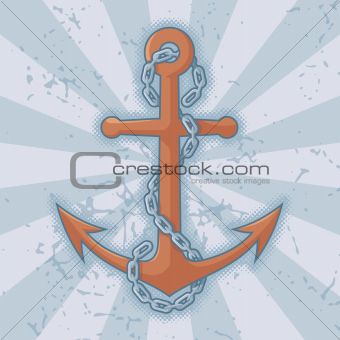 Anchor chain on grunge