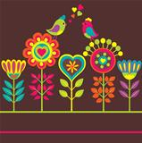 Decorative colorful funny flower composition