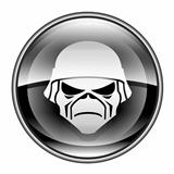 Army icon black, isolated on white background