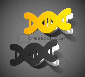 molecule in the form of a sticker