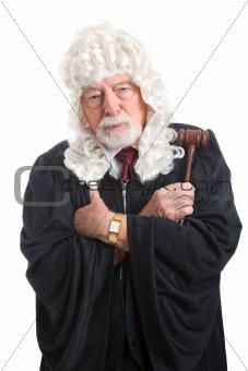 British Judge - Stern and Serious