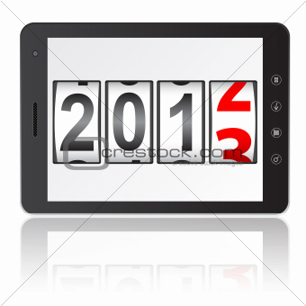 Tablet PC computer with 2013 New Year counter