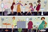Beauty salon  banner workers