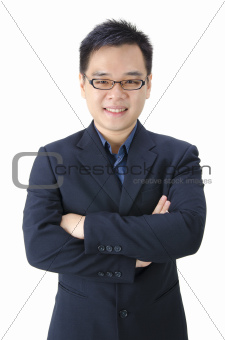 Asian male isolated on white