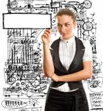 businesswoman writing something