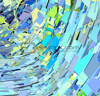 abstract modern blue green yellow wave pattern