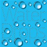 Water Drops Words