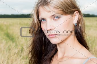 Fashion photo of young beautiful woman