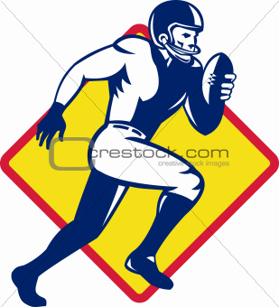 American Quarterback Football Player Running
