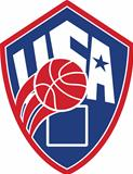 United States USA American Basketball Ball Shield