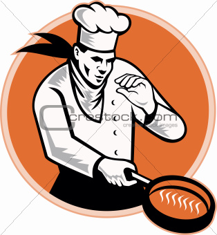 Chef Cook Cooking Pan Circle
