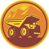 Mining Dump Truck Retro 