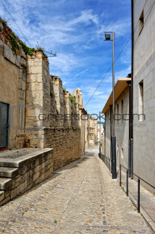 Streets of the small spanish own Morella.