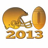 golden american football helmet ball 2013