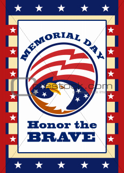American Eagle Memorial Day Poster Greeting Card